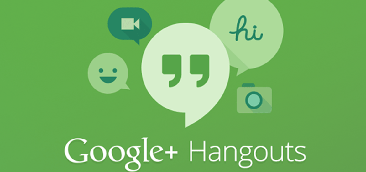 Video conferencing and audio calls using Google Hangouts, with messaging and screen sharing
